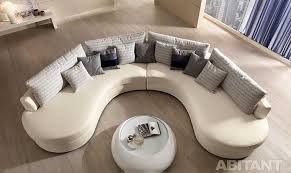 this is round and curved sofa with original accent furniture read now