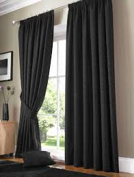 Painting Fabric Curtains Decorations Graceful Glossy Black Fabric Curtain Panel With Top