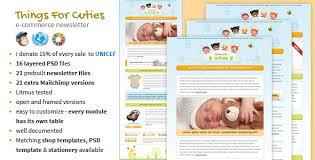 things for cuties baby kids newsletter template by mouseonleaf