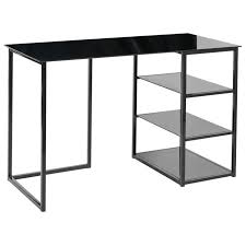 bureau metal et verre glass bureau contemporain en métal et verre trempé noir mat l 120