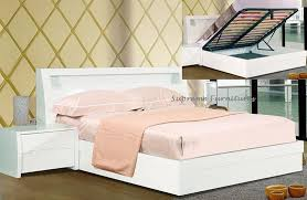 White Ottoman Bed Italian Furnitures Madrid Ottoman Bed
