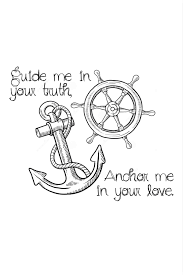 yes tiny anchor ship wheel christian