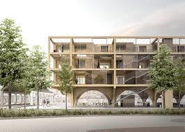 affordable housing plans and design jaja wins second prize for swedish housing and market hall hybrid