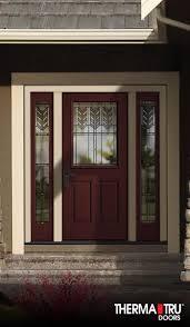 fiber glass door therma tru classic craft mahogany collection fiberglass door with