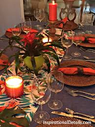 polynesian theme dinner party and tablescape inspirational details