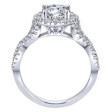 twisted shank engagement ring 14k white gold pave halo twisted shank 14k white gold