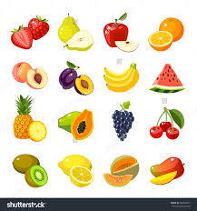 lychee fruit drawing set of colorful cartoon fruit icons apple pear strawberry