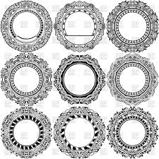 set of frames with ornamental borders vector clipart image