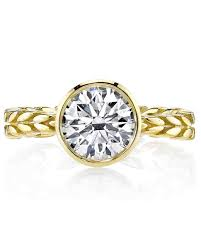 engagement ring gold yellow gold engagement rings martha stewart weddings