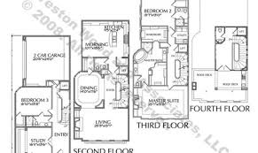 luxury townhouse floor plans townhome plan home building plans