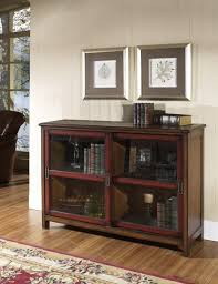 wood bookcase with doors wonderful dark brown stainless cool