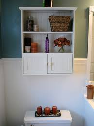white wooden bathroom wall cabinet combined beadboard and blue