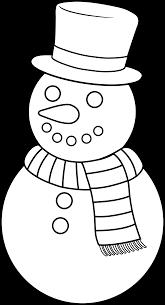 colorable christmas snowman free clip art