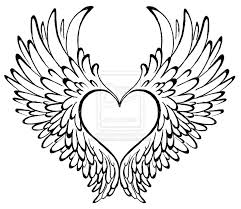 Hearts With Wings - cool drawings of hearts with wings great drawing