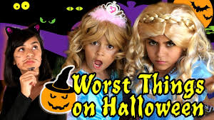 10 worst things on halloween gem sisters youtube