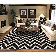chevron rug living room amazon com large chevron pattern rugs for living room black cream