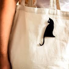 bugga black cat brooch plexiglass jewelry lasercut acrylic gifts