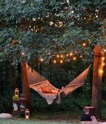 Backyard Lighting Ideas Vintage Backyard Lighting In Trees