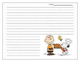 charlie brown thanksgiving writing paper freebie charlie brown