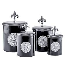 fleur de lis kitchen canisters fleur de lis 4 kitchen canister set reviews