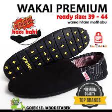 Jual Sepatu Wakai jual sepatu wakai premium hitam motif abu wakai pria sepatu wakai