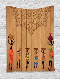 girls home decor african tapestry wall hanging aboriginal girls art home decor ebay