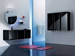Black And Red Bathroom Ideas Colors Contemporary Bathroom Decor In Black Color Adds Mysterious