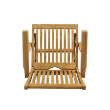 Vintage Outdoor Folding Chairs Bali Folding Arm Chair Top View U2013 Teak Vintage