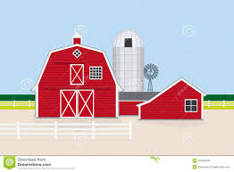silo house plans traditional american farm vector illustration stock vector image