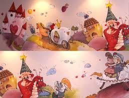 fresque chambre fille princesse fresque chambre enfant décoration intérieure