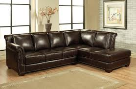dark brown sectional sleeper sofa with rectangle brown leather