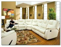 Nina Leather Sofa Brandie Leather 6 Piece Sectional Sofa With 3 Power Recliners