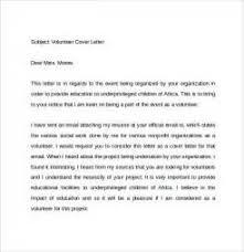 application letter of volunteer