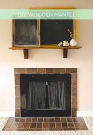 ikea fireplace hack ikea hack how to make a simple mantel from a wood shelf curbly