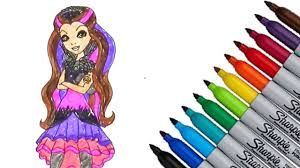 ever after high raven queen coloring page 2016 new hd video for