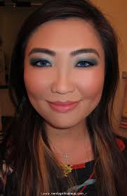 makeup for navy blue dress re re