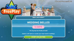 wedding cake sims freeplay wedding belles live event the sims freeplay