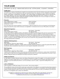 Resume For Babysitting Examples by Nice Template Of Nanny Job Resume Example Featuring Qualifications