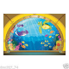 the sea party the sea party decoration wall mural submarine view backdrop