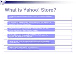 what is yahoo store design and development