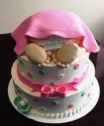baby bottom cake costanzosconfections shower