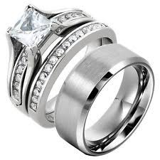 Wedding Ring Sets For Him And Her by Tungsten Engagement And Wedding Ring Sets Ebay