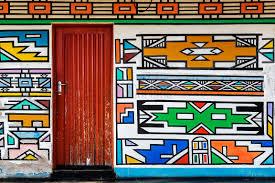 ndebele artwork on wall of a house doors pinterest artwork
