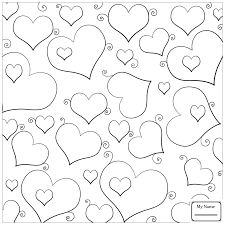 coloring pages kids arts culture hearts butterflies