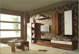 cream and brown living room ideas tv wall two tone paint idolza