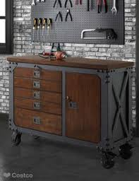 Costco File Cabinet Whalen 48 Metal And Wood Workbench Cabinet Heavy Duty Garage Table