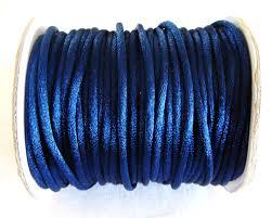 rattail cord blue satin cord 3mm silk satin rattail cord shamballa