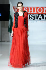 red net dress with jacket