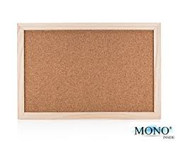 small wood monoinside small wood framed cork bulletin board