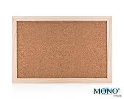 monoinside small wood framed cork bulletin board